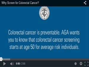 AGA why screen for colorectal cancer